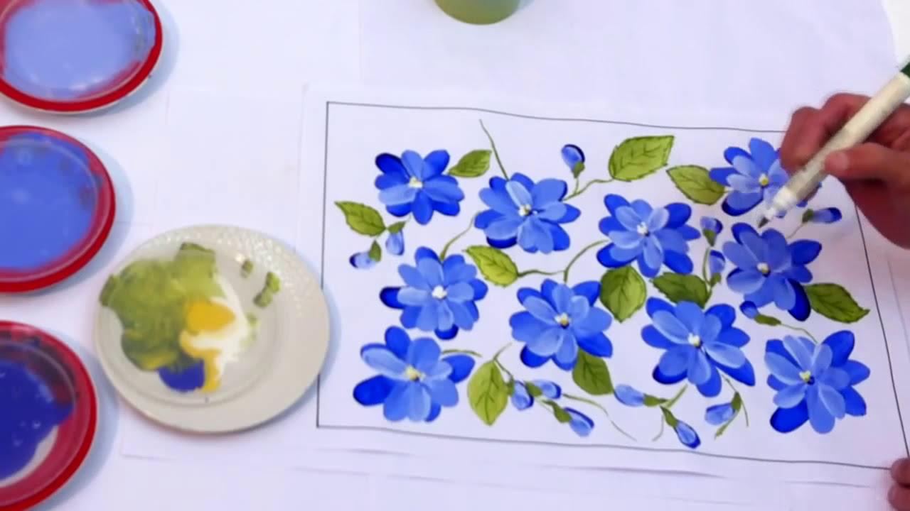 Pintura Em Tela Iniciantes Aula 3 Flores Espontâneas