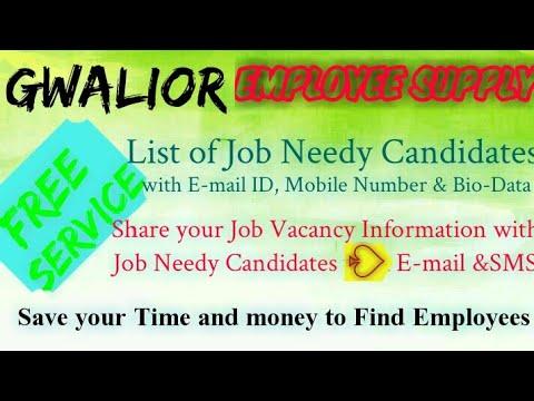 GWALIOR   EMPLOYEE SUPPLY   ! Post Your Job Vacancy ! Recruitment Advertisement ! Job Information 12