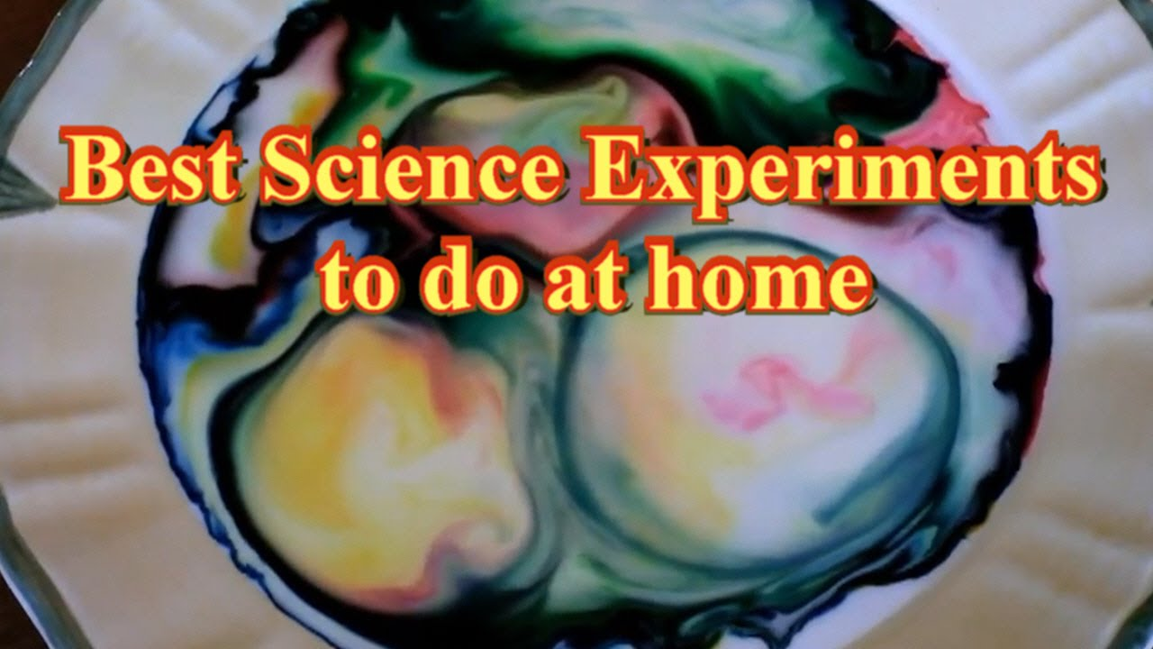 Good science projects to do at home