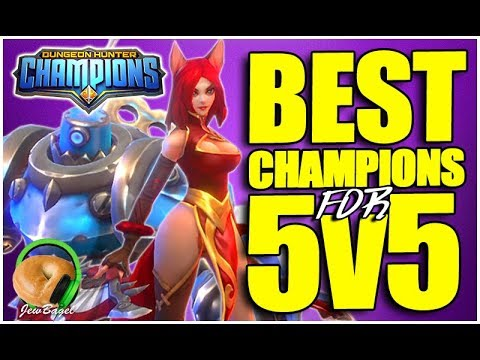 DUNGEON HUNTER CHAMPIONS : BEST Champions For 5v5 Mode?