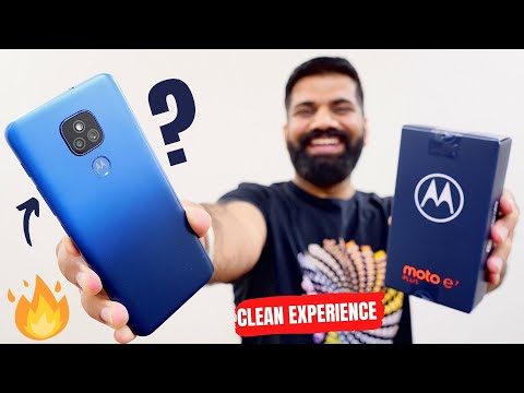 Moto E7 Plus Unboxing & First Look - A Clean Experience