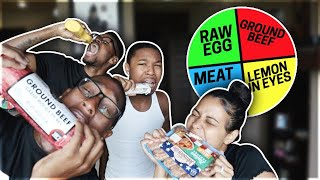 Spin the MYSTERY WHEELl challenge (FOOD edition) HILARIOUS