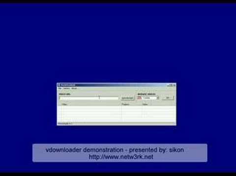 Download Vdownloader demonstration
