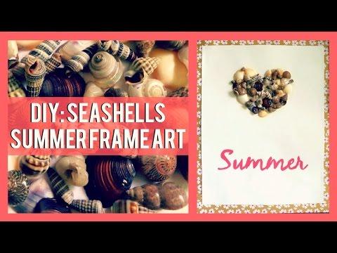 DIY: Seashells Summer Frame Art