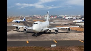 30 year old BOEING 747-200 Uses Entire Runway for Takeoff from Mumbai Airport