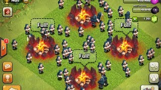 clash of clans 67 wizards attack level 5 rage spells