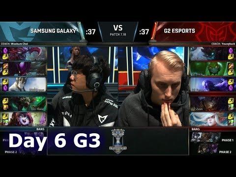Samsung Galaxy vs G2 eSports | Day 6 Main Group Stage S7 LoL Worlds 2017 | SSG vs G2 G2