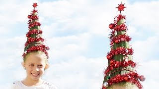 Crazy Hair Day Christmas Tree Head Funny Hair Youtube