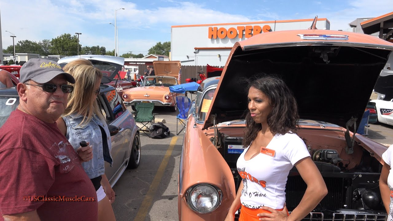 Hooters Car Show 1955 Chevy Hooters Girls Hooters