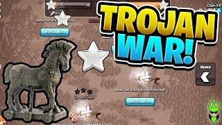 "LAST MINUTE WAR ATTACKS! - Trojan War Event! - ""Clash of Clans"""