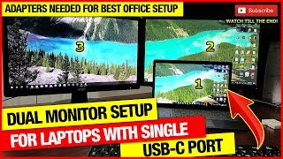 How to setup Dual Monitors to a laptop with single USB type C port (GUIDE FOR DUAL MONITOR SETUP)