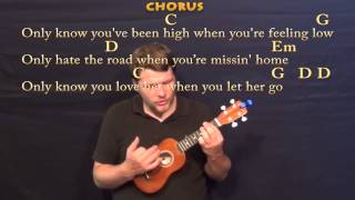 Let Her Go (Passenger) Ukulele Cover Lesson with Chords / Lyrics