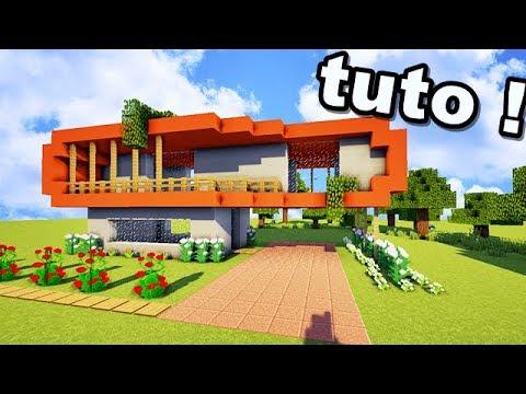 Tuto nouveau type de maison sur minecraft youtube for Construction de maison sur minecraft