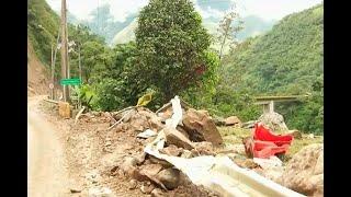 Remoción de escombros en vía al Llano se dificulta por el clima | Noticias Caracol