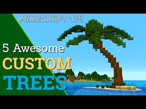 How to Make A Custom Tree in Minecraft: 5 Custom Trees for Minecraft 1.14 (Avomance 2019)