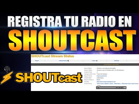 Registra tu radio en shoutcast
