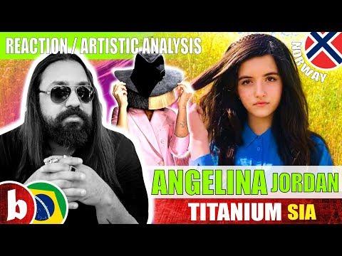 ANGELINA JORDAN! Titanium - Reaction Reação & Artistic Analysis (SUBS)