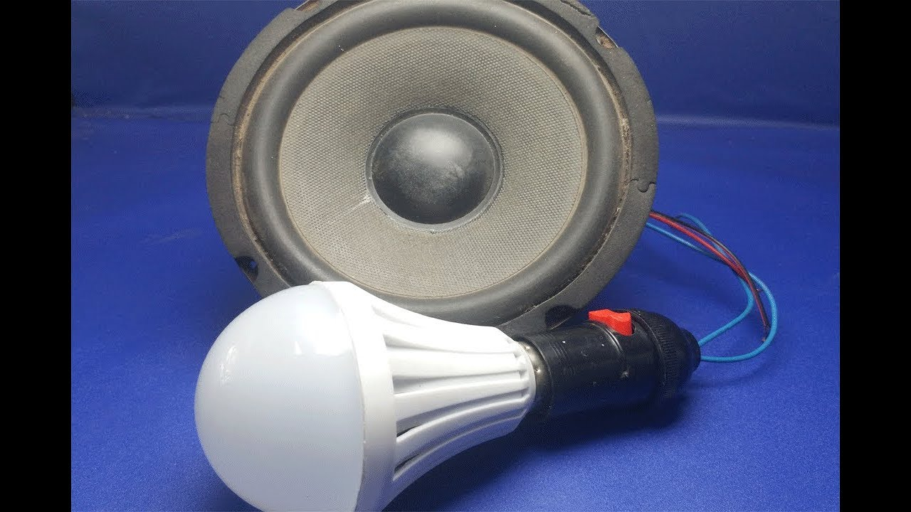 Free Energy 100%    Speaker Electric Generator