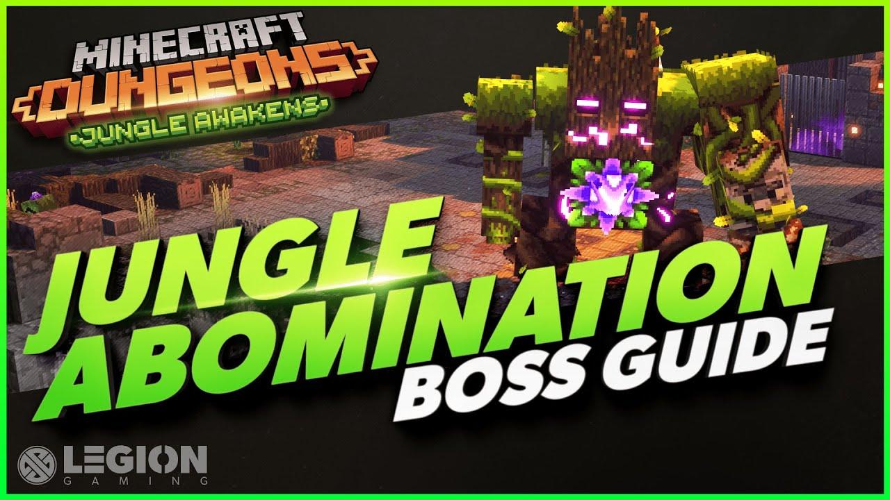 Jungle Abomination BOSS GUIDE Minecraft Dungeons Jungle Awakens