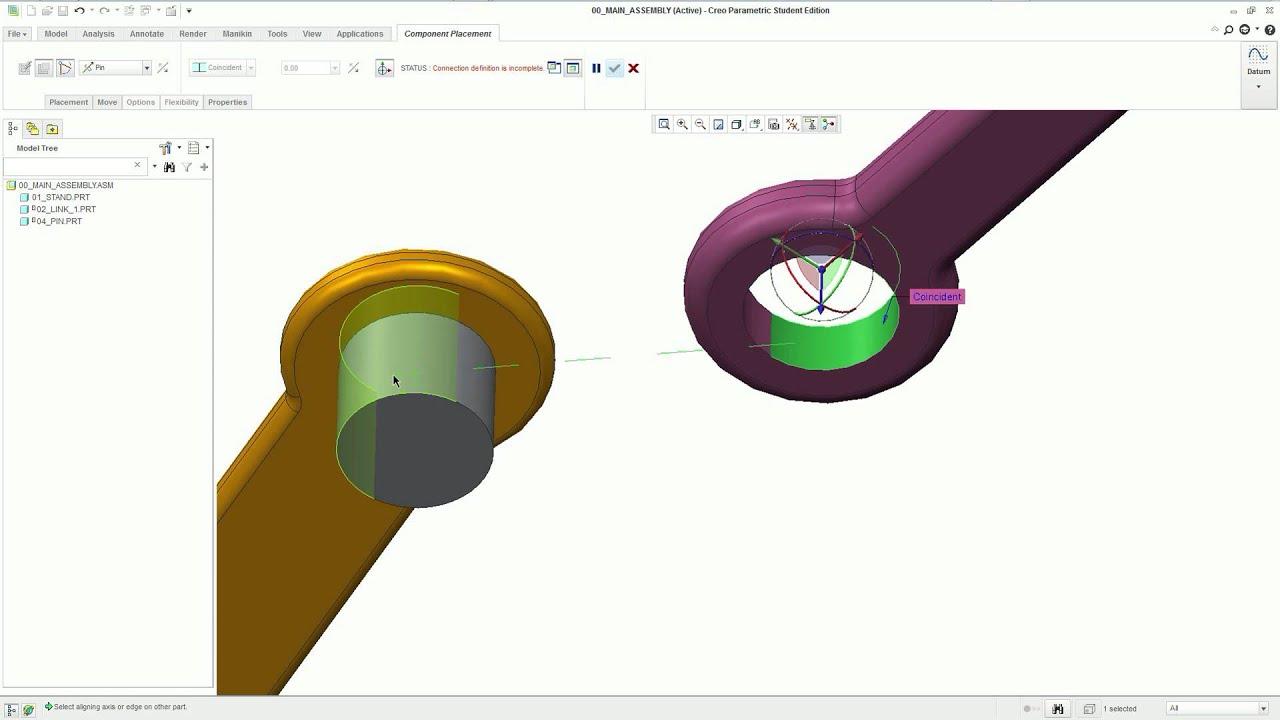 small resolution of creo tutorials case study slider crank linkage assembly