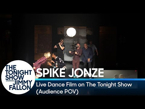 Spike Jonze's Live Dance Film on The Tonight  Audience POV