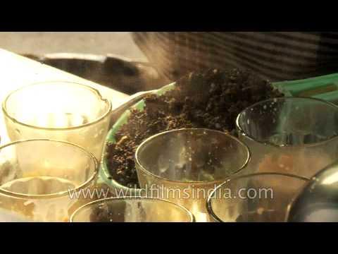 Brewing Indian tea in Chandni Chowk, Delhi