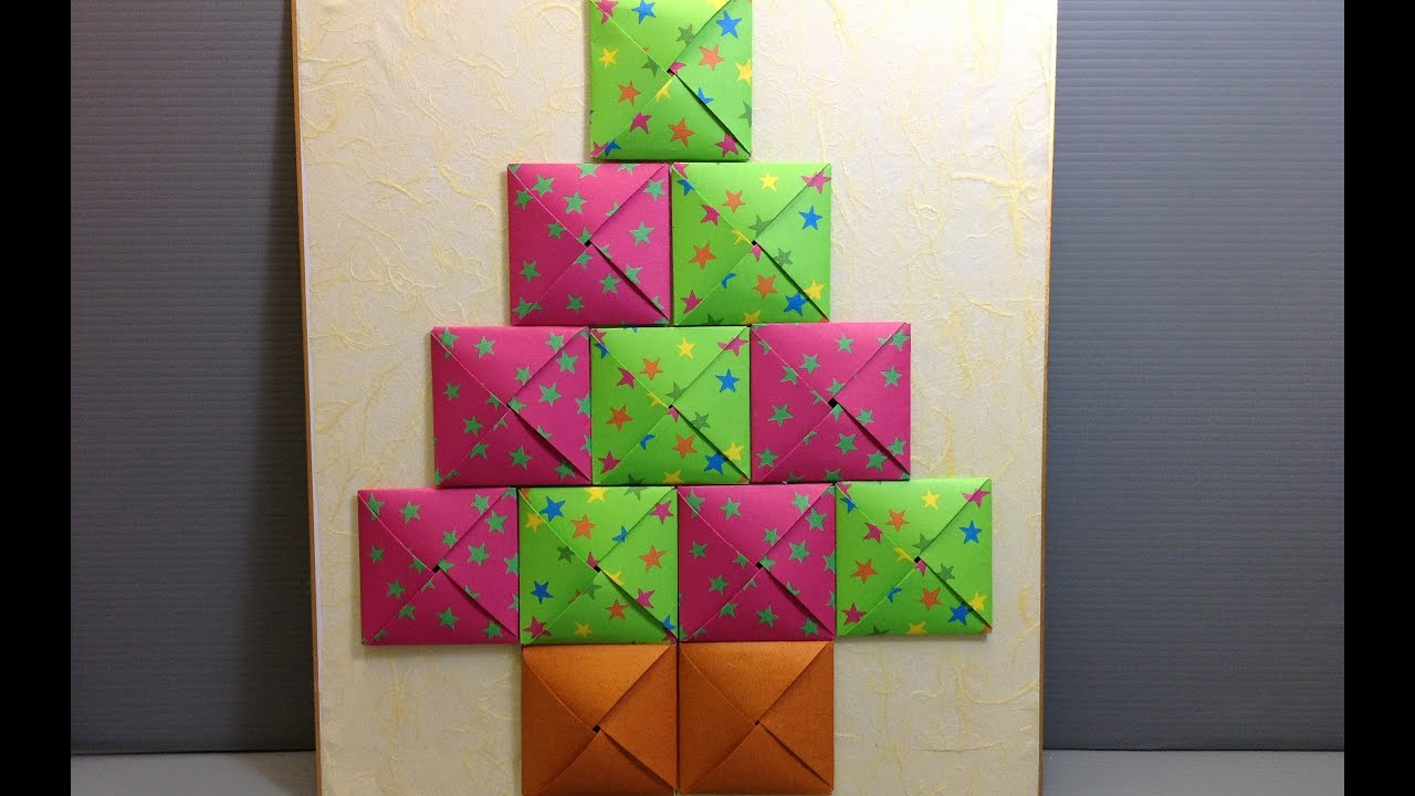 Origami Christmas Advent Calendar Make Your Own Youtube