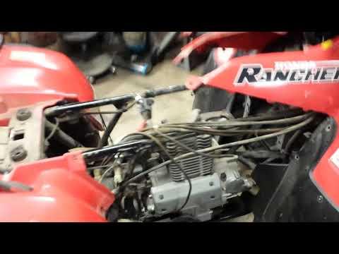 2000 Honda Rancher 350 engine removal part 1