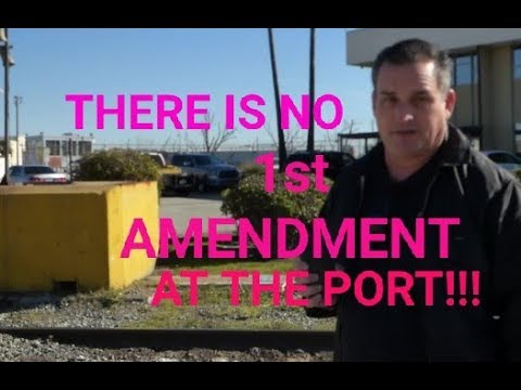 STUPIDITY at Port Of Los Angeles, (Who started the Drama) preview THX ELI, 1st Amendment Audit