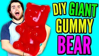 DIY GIANT GUMMY BEAR | How To Make Huge Jelly Candy out of Kool-Aid!