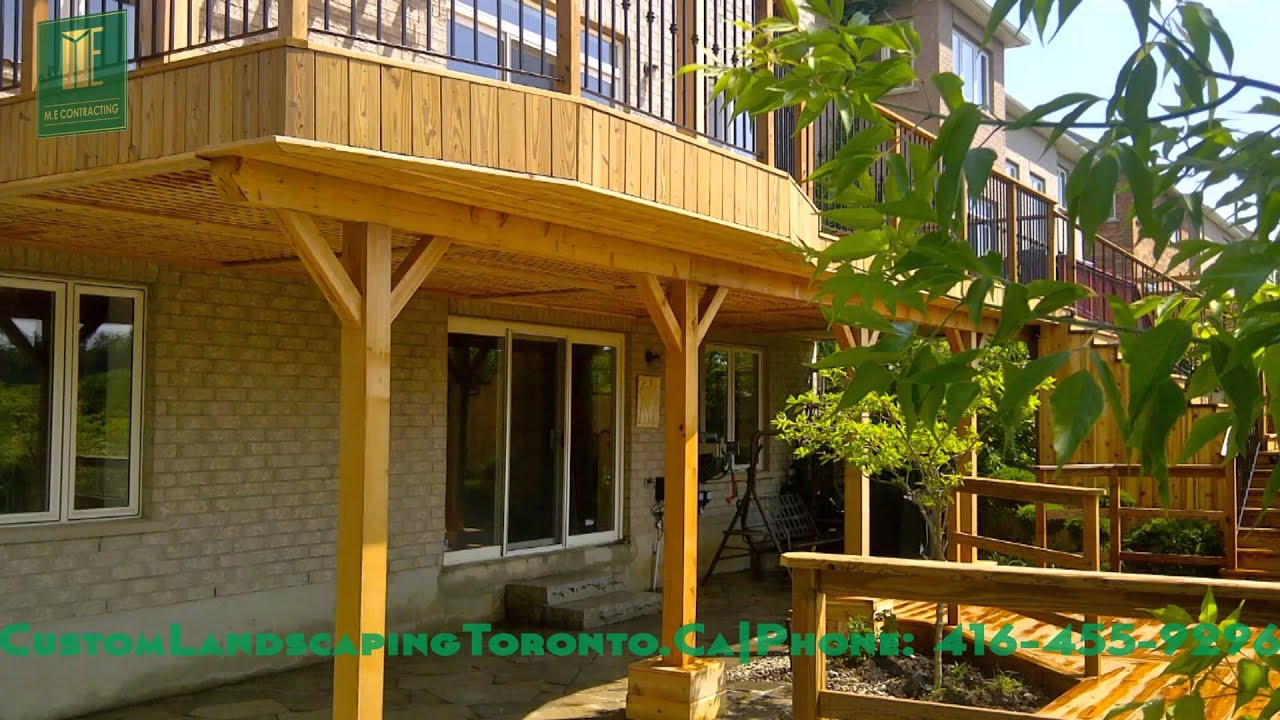 2 Level Cedar Deck With Walkout Basement   YouTube