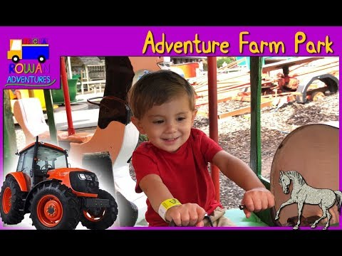 Adventure Park W/ TRACTOR RIDE And FARM ANIMALS | RowanVentures
