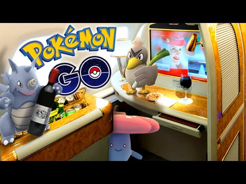 POKEMON GO - Catching Pokemon In 1st Class