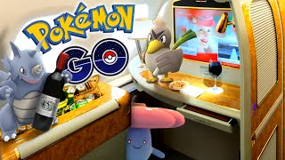 POKEMON GO - Catching Pokemon In 1st Class