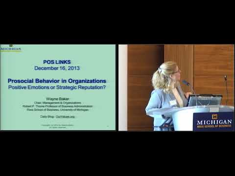 Prosocial Behavior in Organizations: Positive Emotions or St