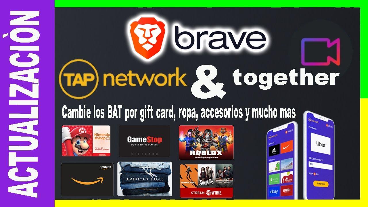 🔥Brave Navegador - tapnetwork y together -  gift card y vídeollamadas Actualización Julio 2020