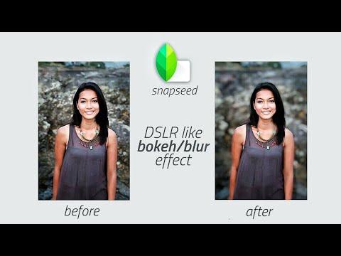 Portrait Mode Effect In Snapseed