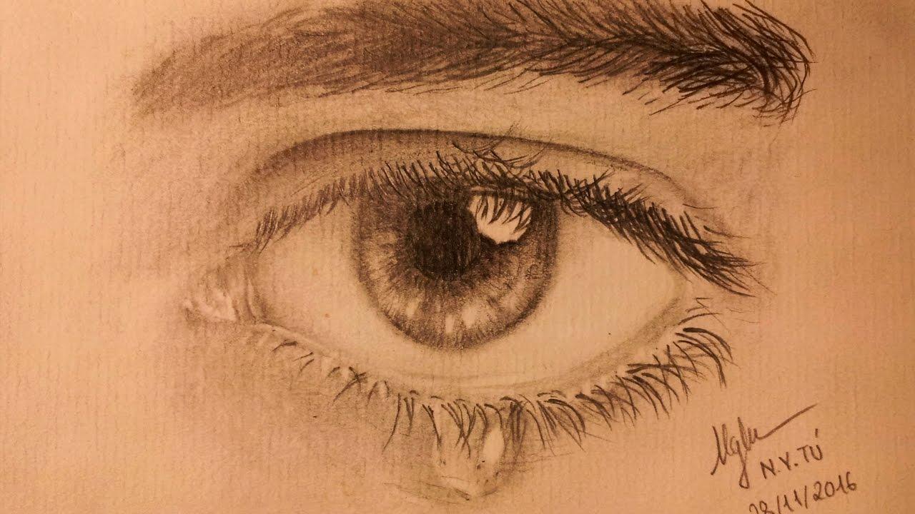 Hướng dẫn vẽ mắt bằng bút chì – Tu Nguyen