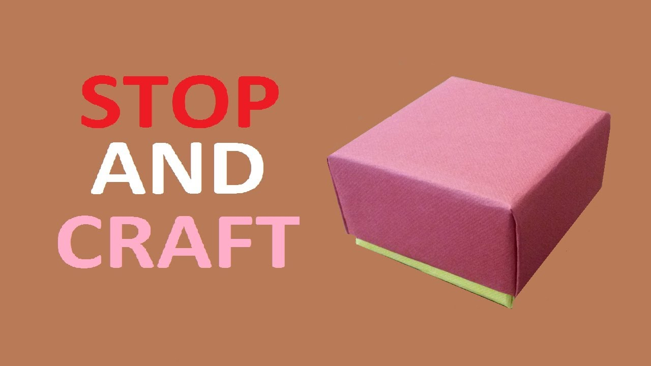 How to make a Gift Box from Cardboard or Paper  YouTube