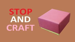 Repeat youtube video How to make a Gift Box from Cardboard or Paper