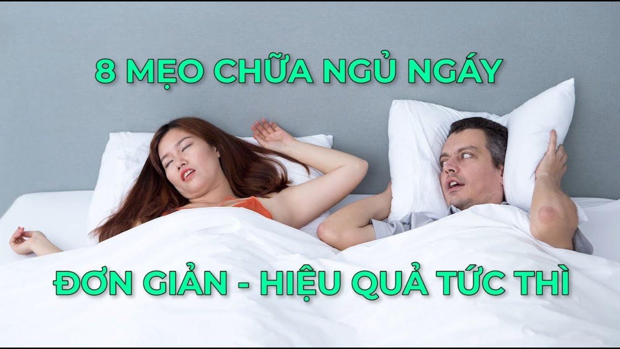 8 mẹo chữa ngủ ngáy đơn giản hiệu quả