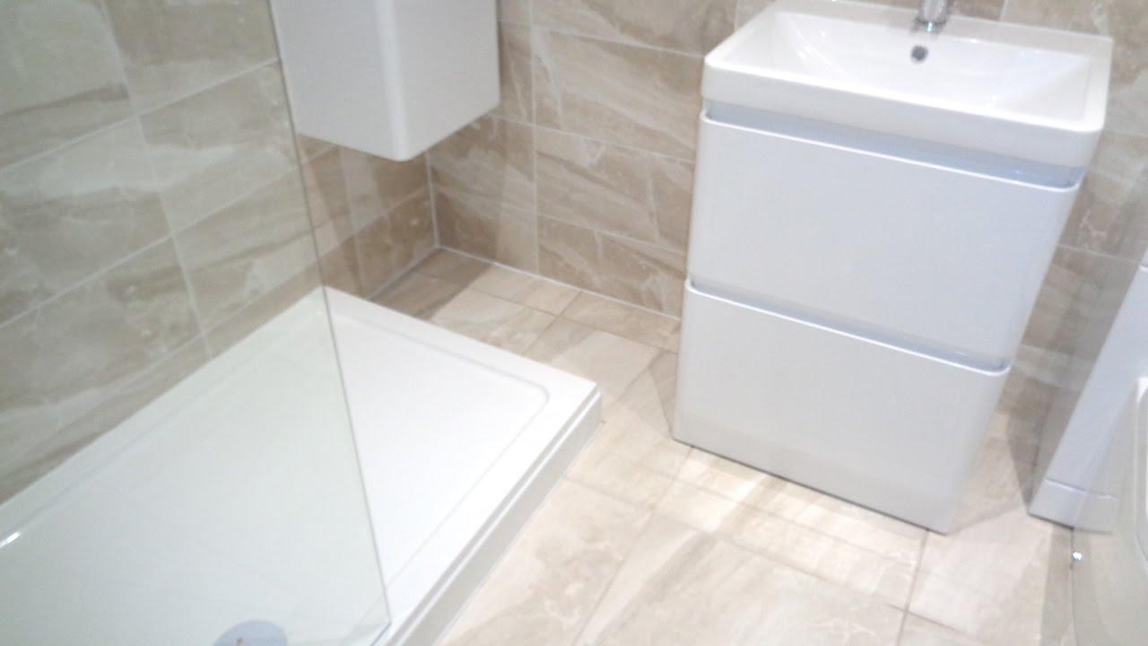 Transform Bathroom To Modern Stylish Walk In Shower Room - YouTube