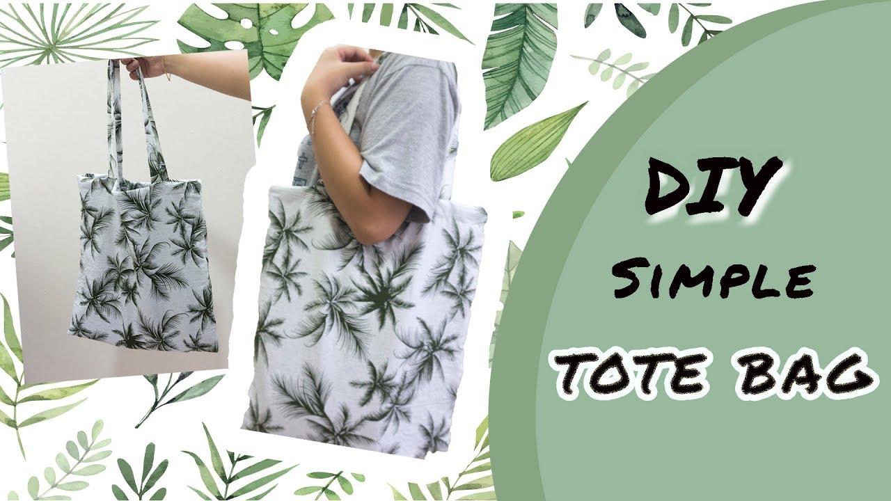 DIY #8: Simple Tote Bag | Hướng dẫn may túi Tote đơn giản | Made by Tram