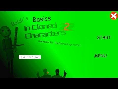 Baldi's Basics In Cloned Characters 2