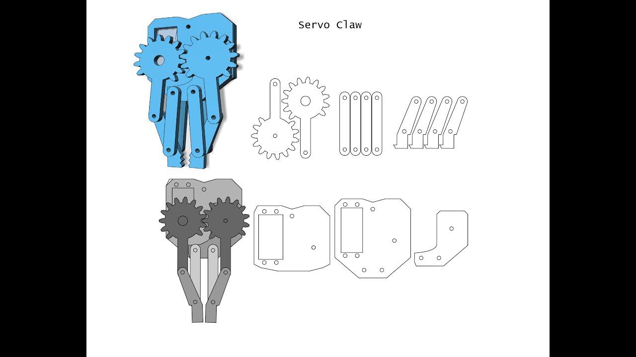 Basic Servo Claw / Grabber Design + Assembly - YouTube