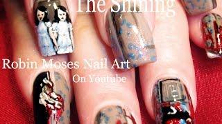 Nail Art Tutorial   Diy Scary Halloween Nails   The Shining