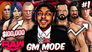 WWE 2K RAW GM MODE EPISODE 1 AND WE RE BACK