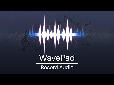WavePad Audio Editor Tutorial | Record Audio
