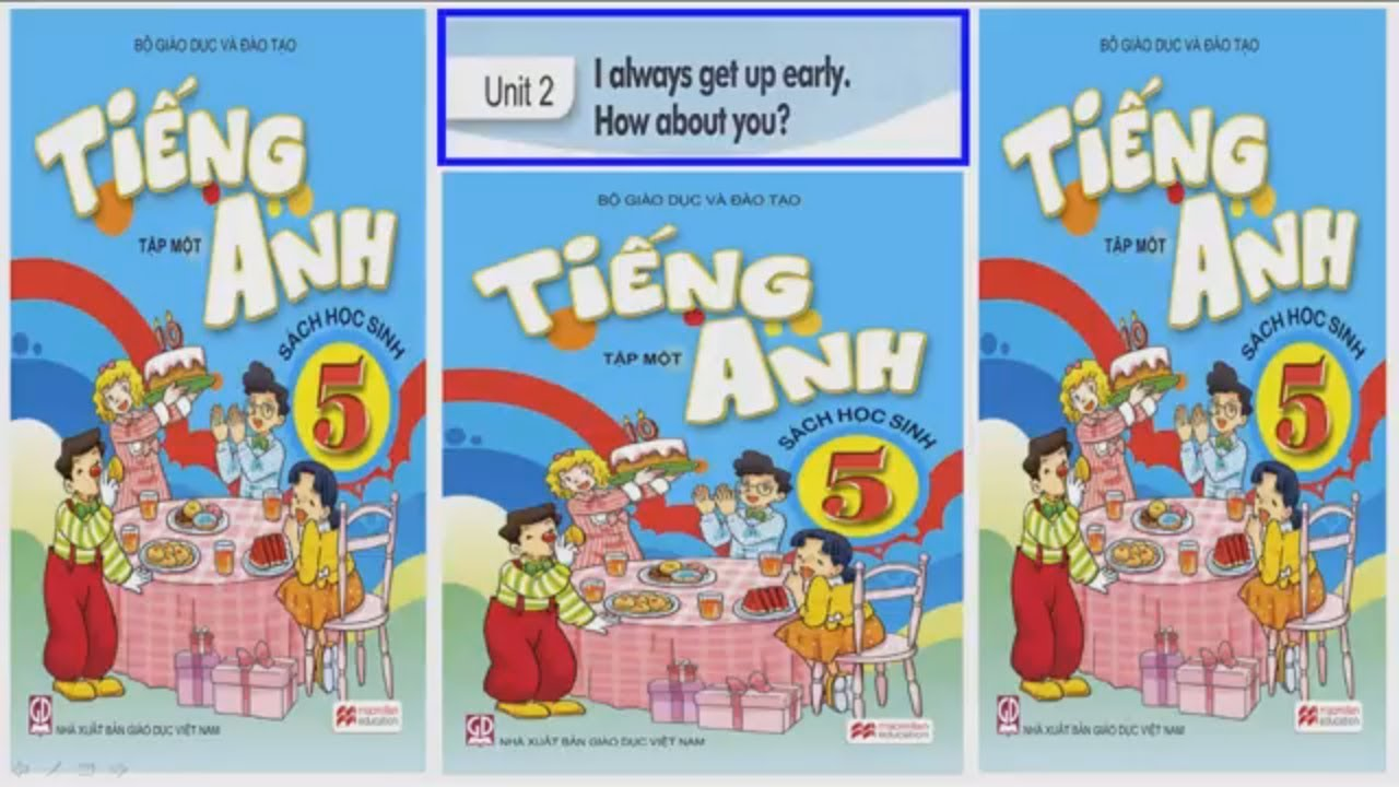 Tiếng Anh lớp 5 Unit 2 I always get up early. How about you?