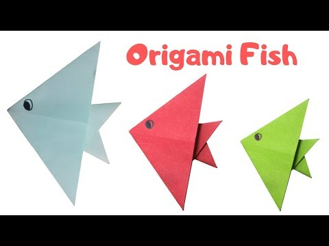 Paper Fish | Origami Fish | Paper Fish for Kids | Paper Crafts | Crafts for Kids | DIY